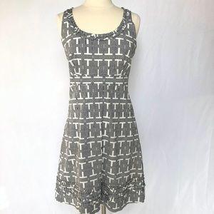 Tory Burch Greek Key Sleeveless Dress Size 10